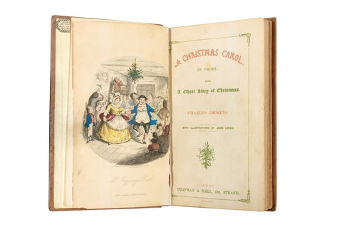 First edition of A Christmas Carol, frontispiece