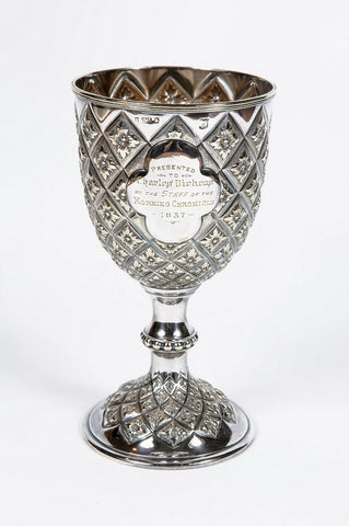 Silver plated goblet, 1837