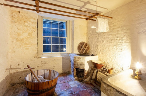 Image of Wash house with copper in corner of room