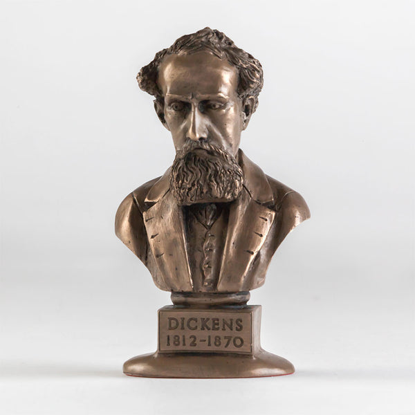 Charles Dickens Bronze Bust