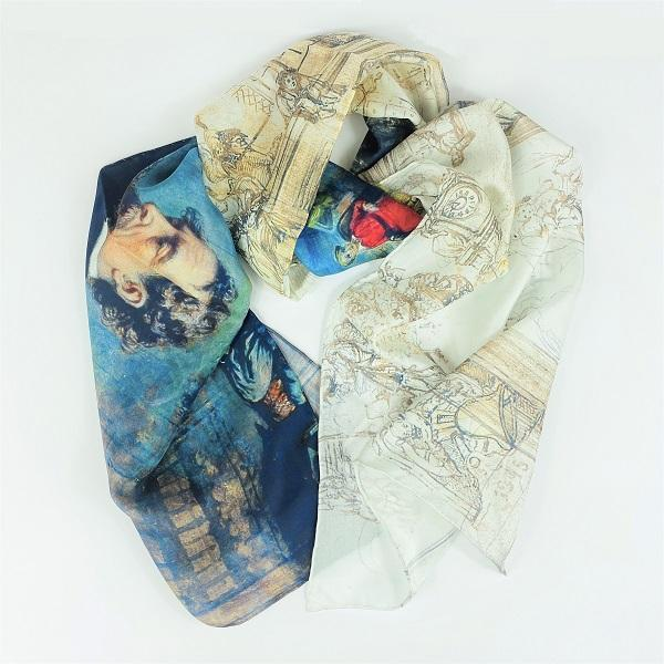 Dickens's Dream Silk Chiffon Scarf | Charles Dickens Museum London