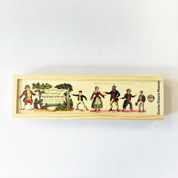 Colouring Pencil Box - Pollock's Characters & Scenes - Charles Dickens Museum