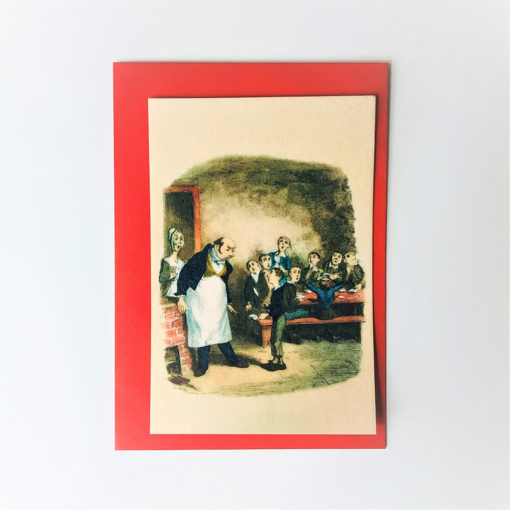 Oliver Twist Edible A6 Greeting Card - Charles Dickens Museum