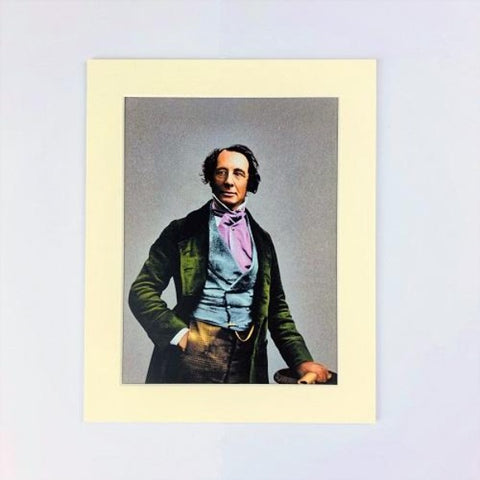 Technicolour Dickens Mounted Print - Cravat