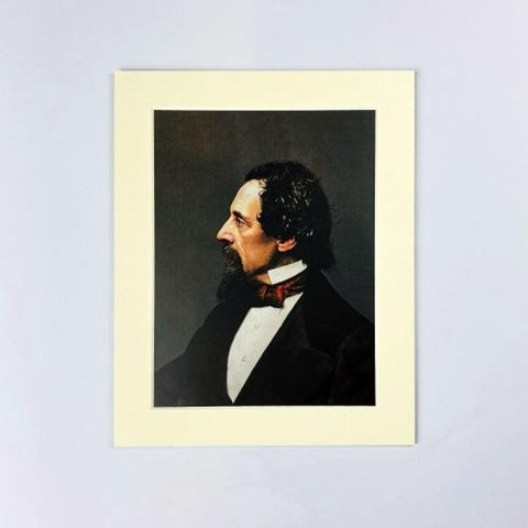 Technicolour Dickens Mounted Print - Profile