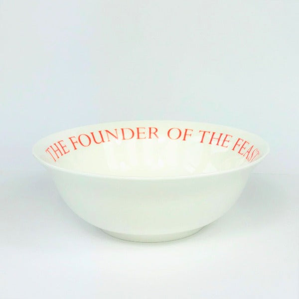 A Christmas Carol White China Bowl with red lettering