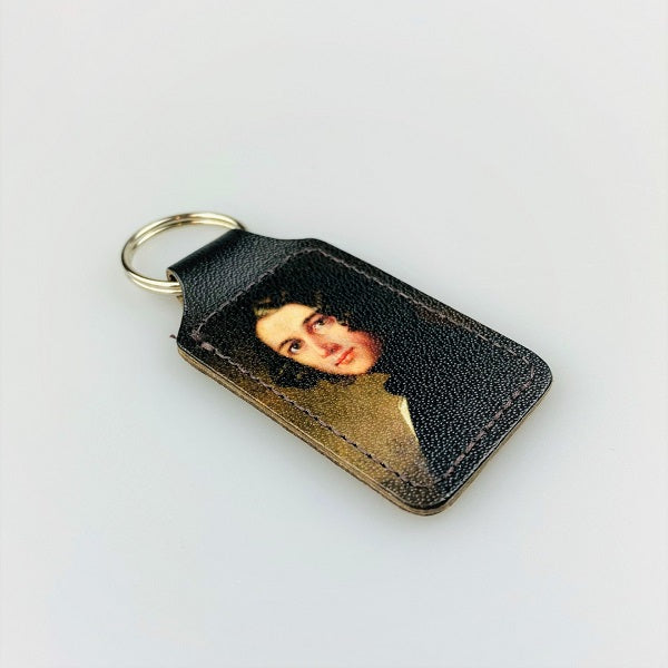 The Lost Portrait Leather Keyring