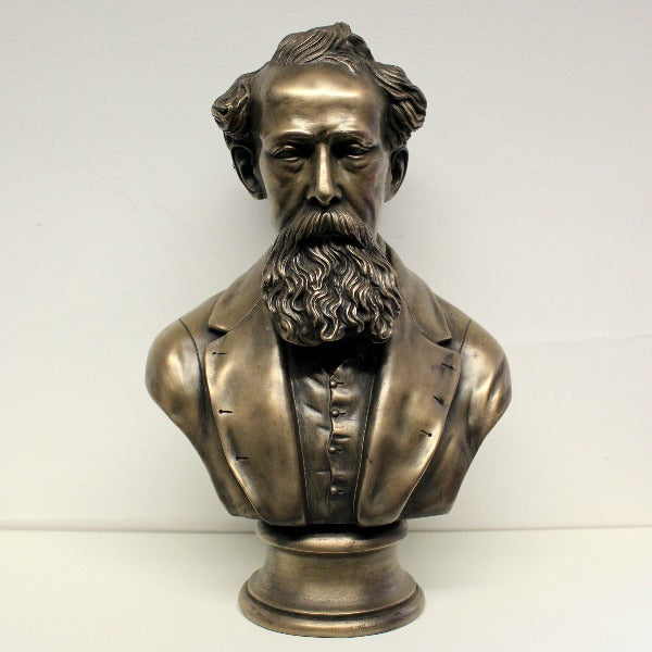 Charles Dickens Bronze Bust Extra Large