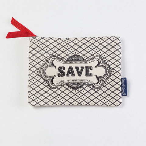 'Save' Screen Printed Purse