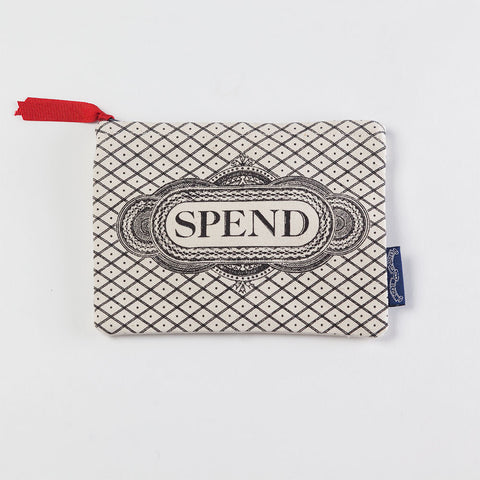 'Spend' Screen Printed Purse