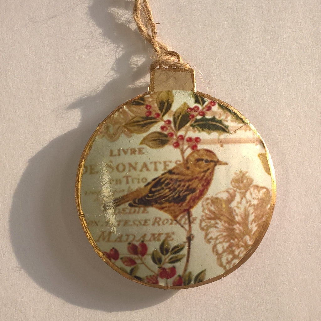 Vintage Bird Christmas Decoration