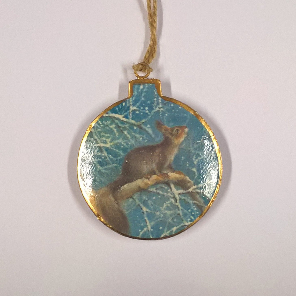 Vintage Hanging Decoration- Midwinter Woodland
