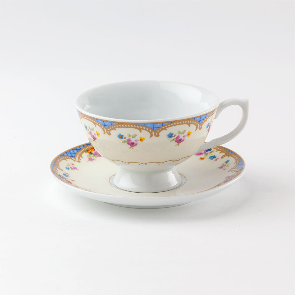 Regency Teacup and Saucer Floral