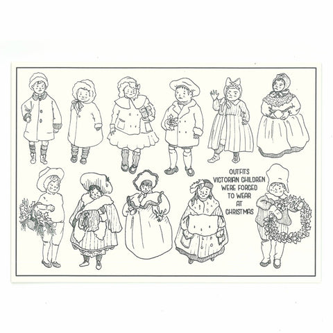 Victorian Children - Set of 6 Christmas Cards