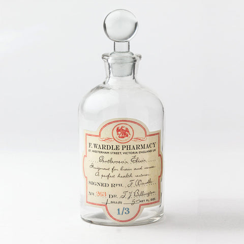 'Gentleman's Elixir' Apothecary Bottle