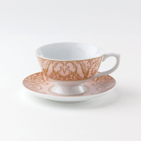Regency Teacup and Saucer Pink