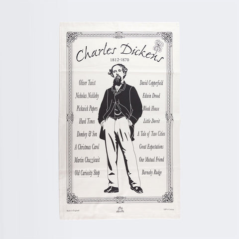 Dickens Book Titles Teatowel
