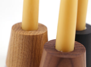 Manor House - FALL Circular Wooden Candle Holder