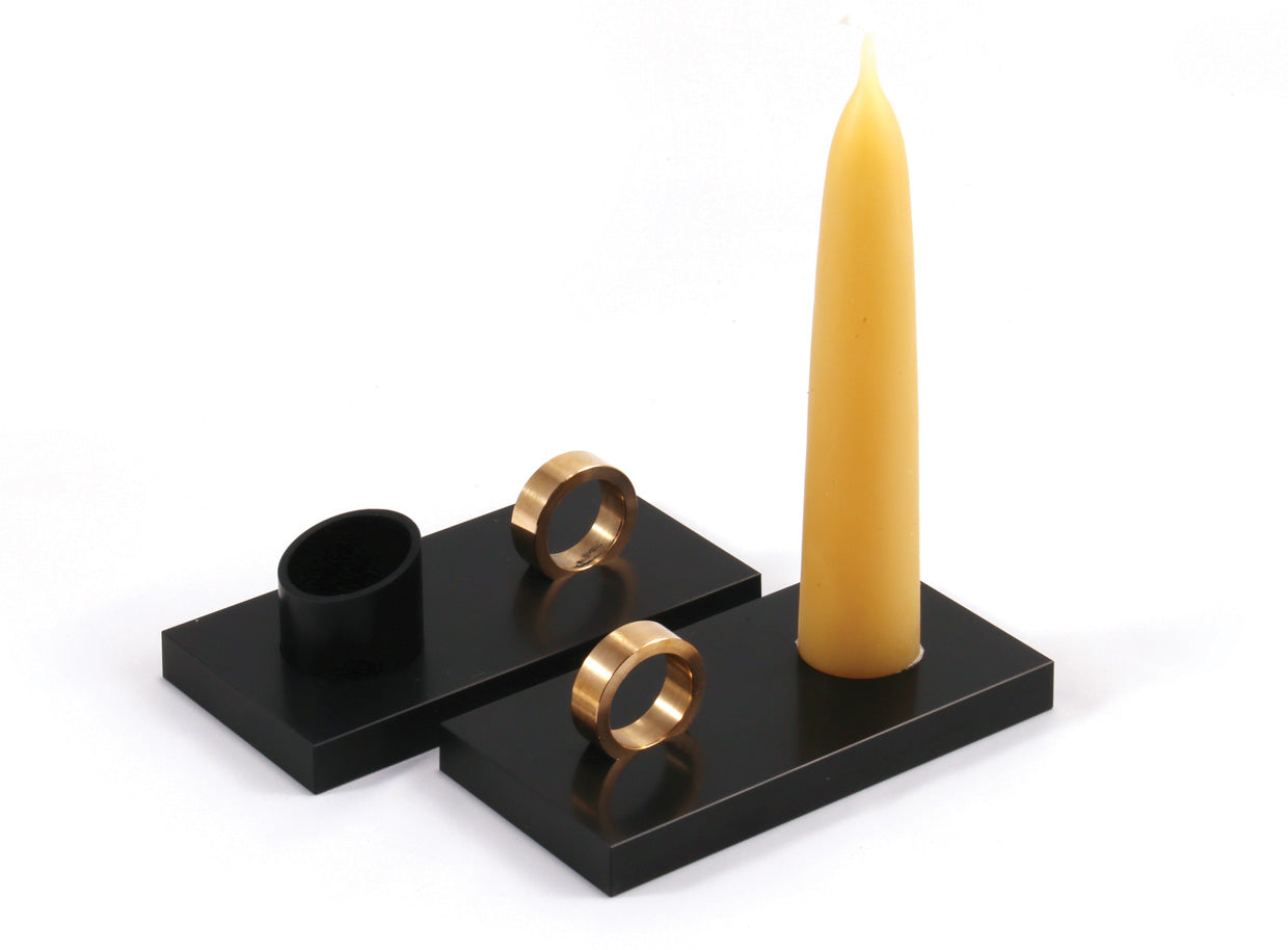 Picture of: Fleet Black Candle Holder Dyehouse
