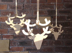 NEVE Wooden Hanging Stag