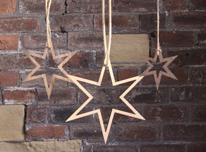 NEVE Wooden Hanging Star