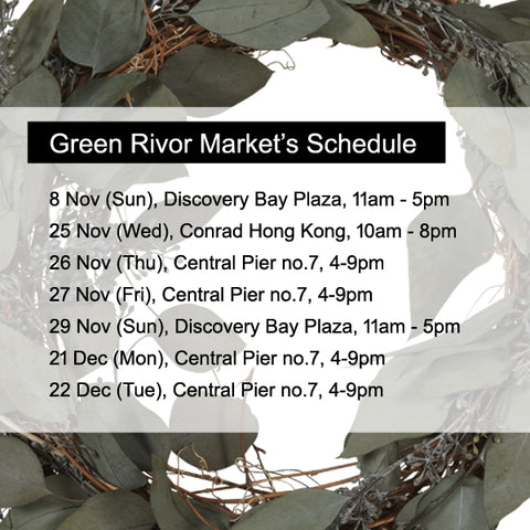 Green Rivor Markets Schedule - Nov & Dec 2015