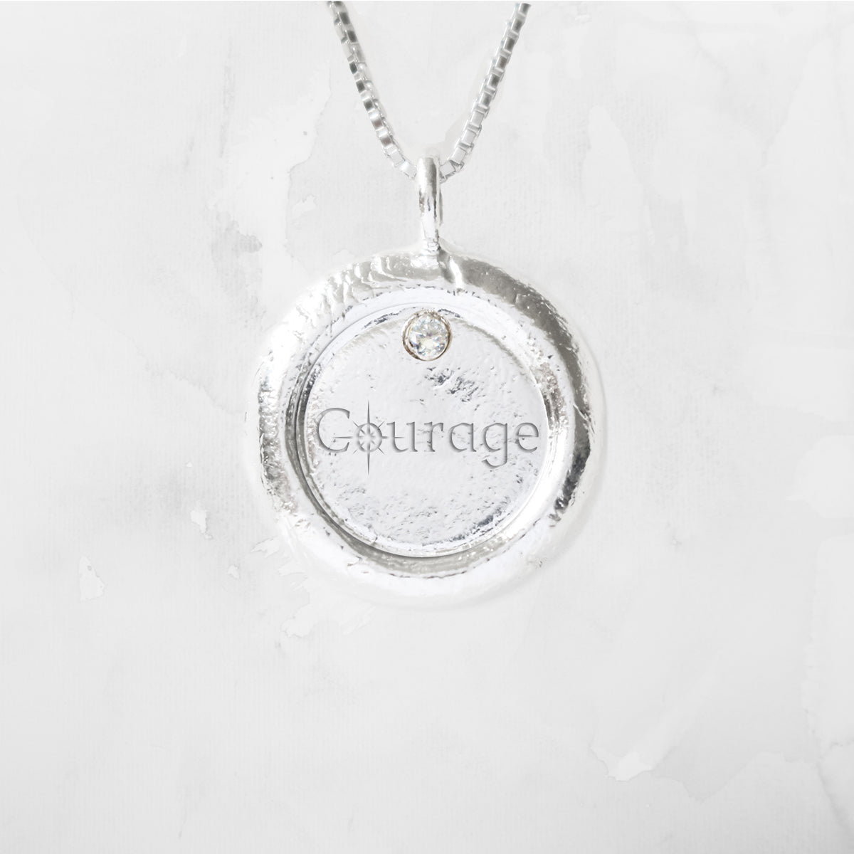 Courage Empowerment Diamond Necklace