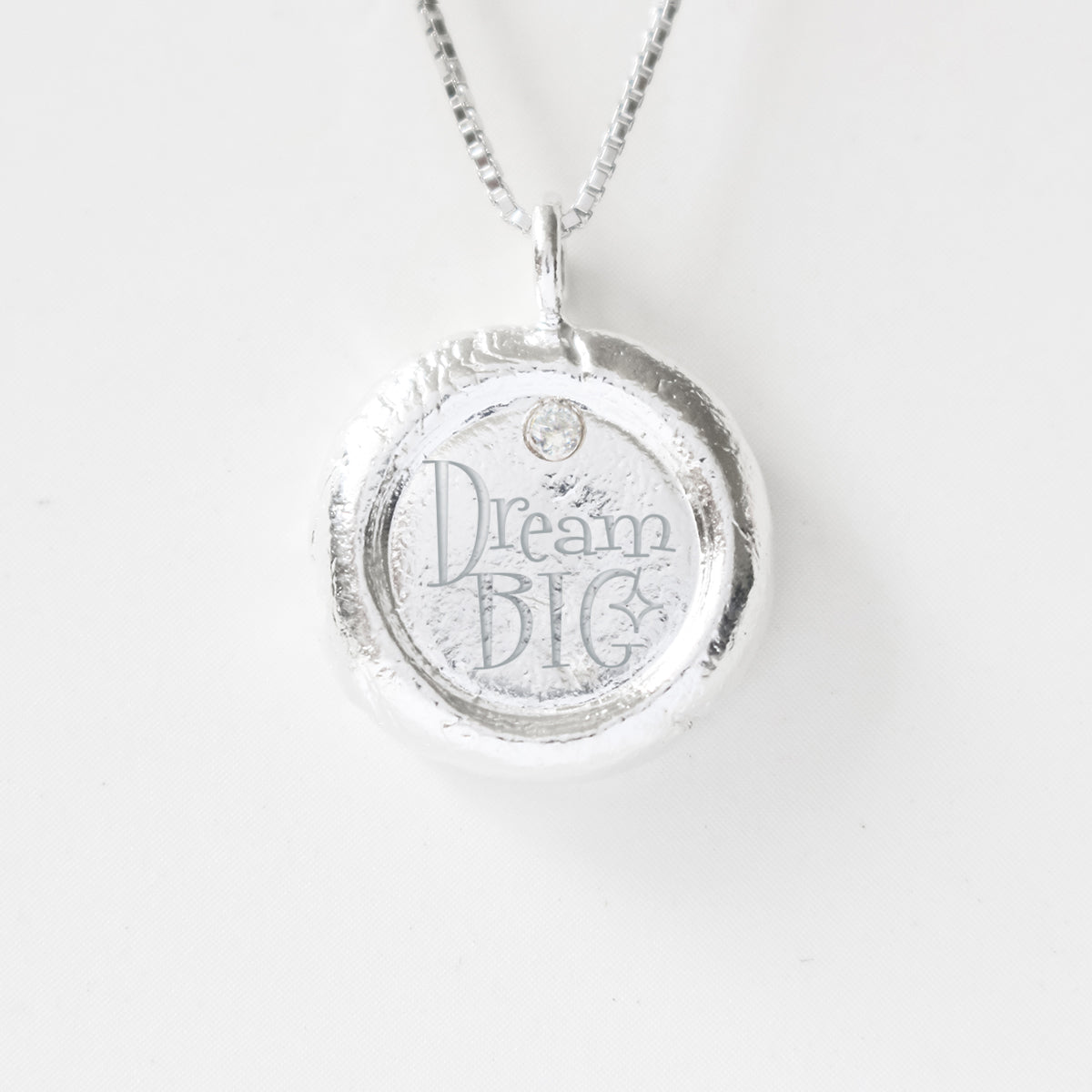 Dream Big - Empowerment Diamond Silver Necklace
