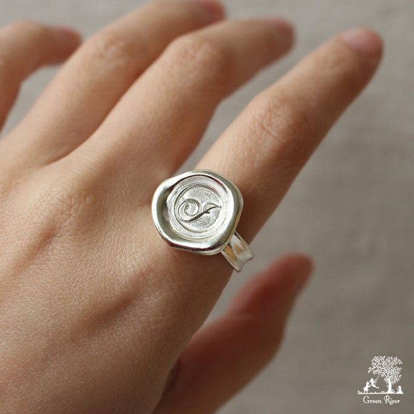 sterling silver wax seal ring