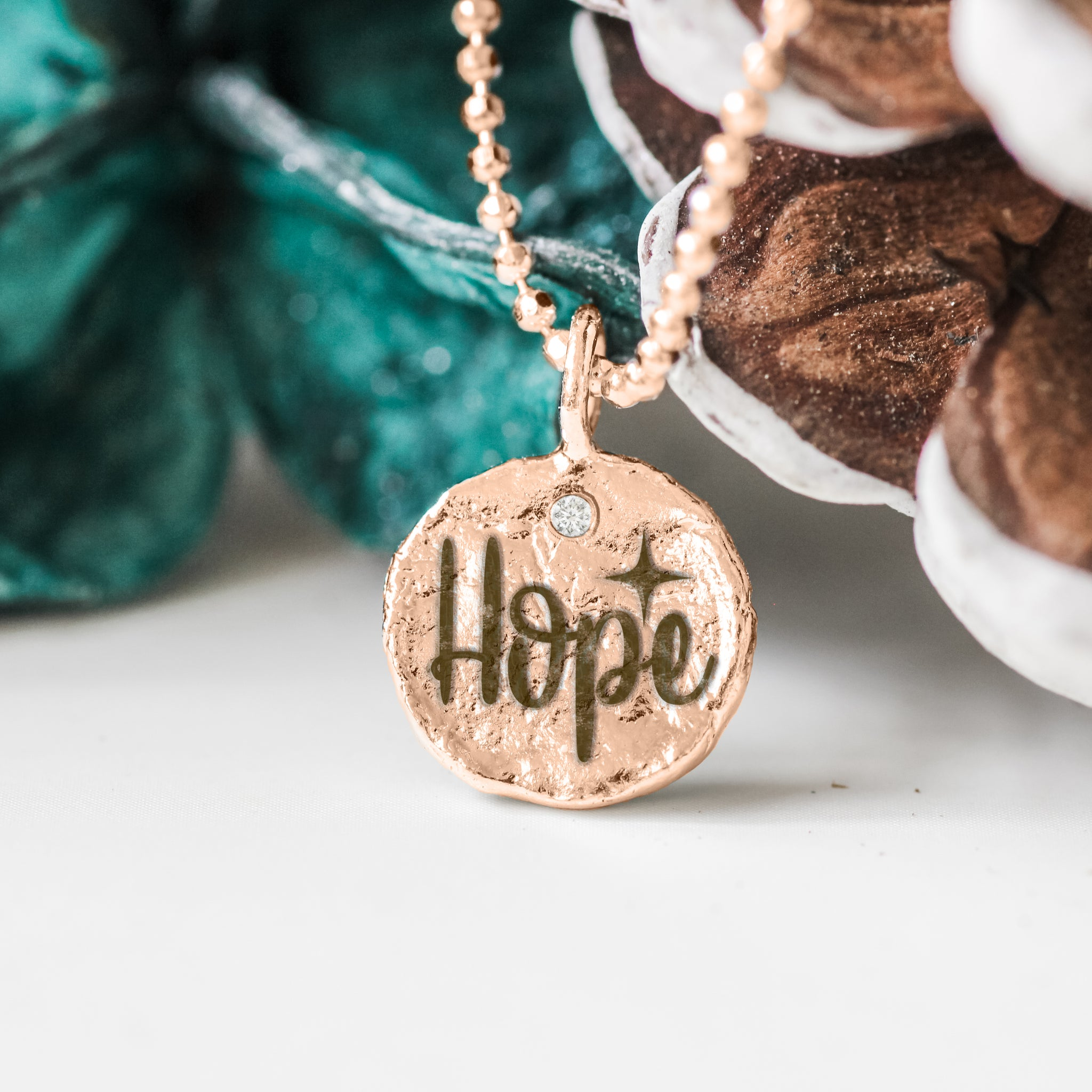 Hope - Empowerment Diamond Silver Necklace