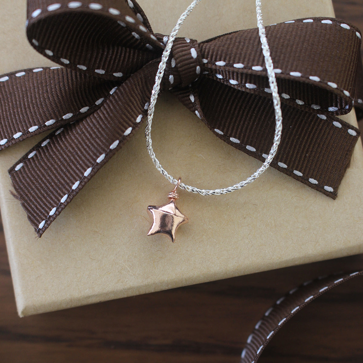Teeny Tiny Dual Color Silver Origami Lucky Star Bracelet