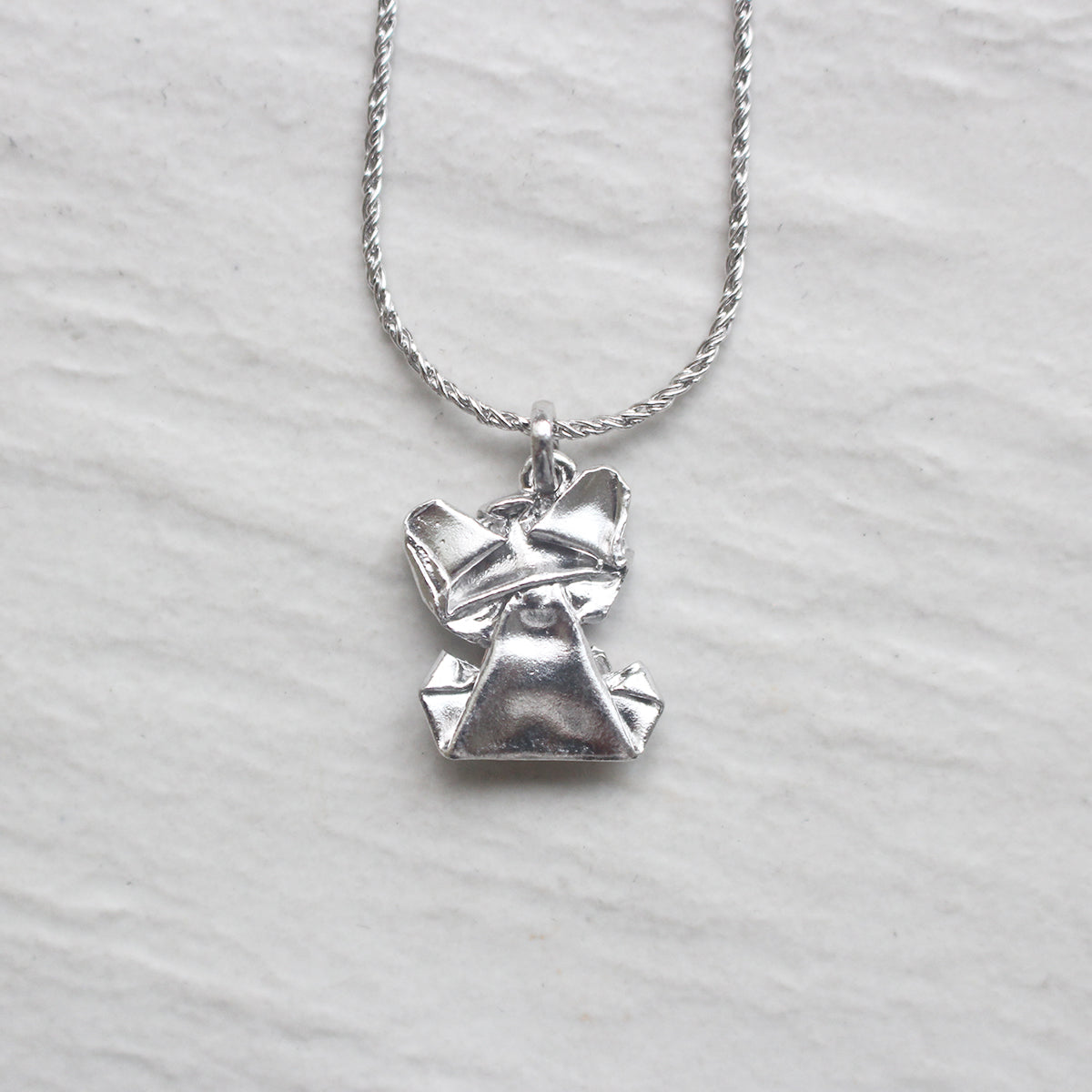Bear My Love - 925 Silver Origami Bear My Love Necklace (Big/Silver/Gloss)