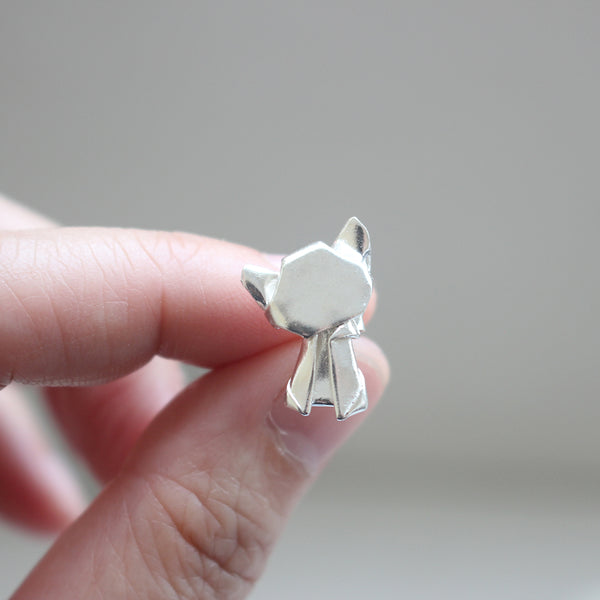 Origami Cat Earrings