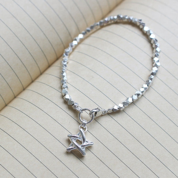 Match Stick Star Bracelet in 925 Sterling Silver