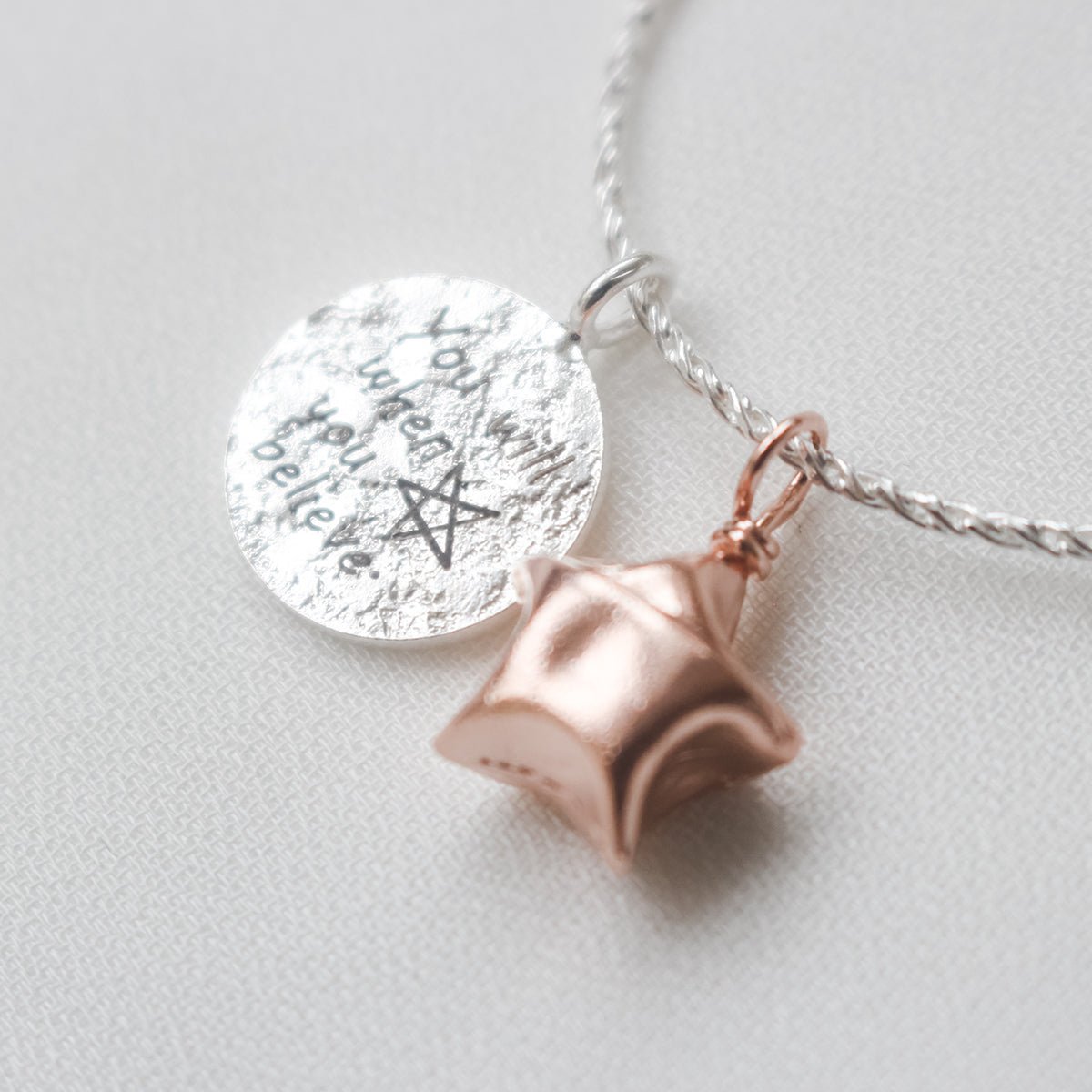 Inspirational Lucky Star Necklace - You Will When You Believe
