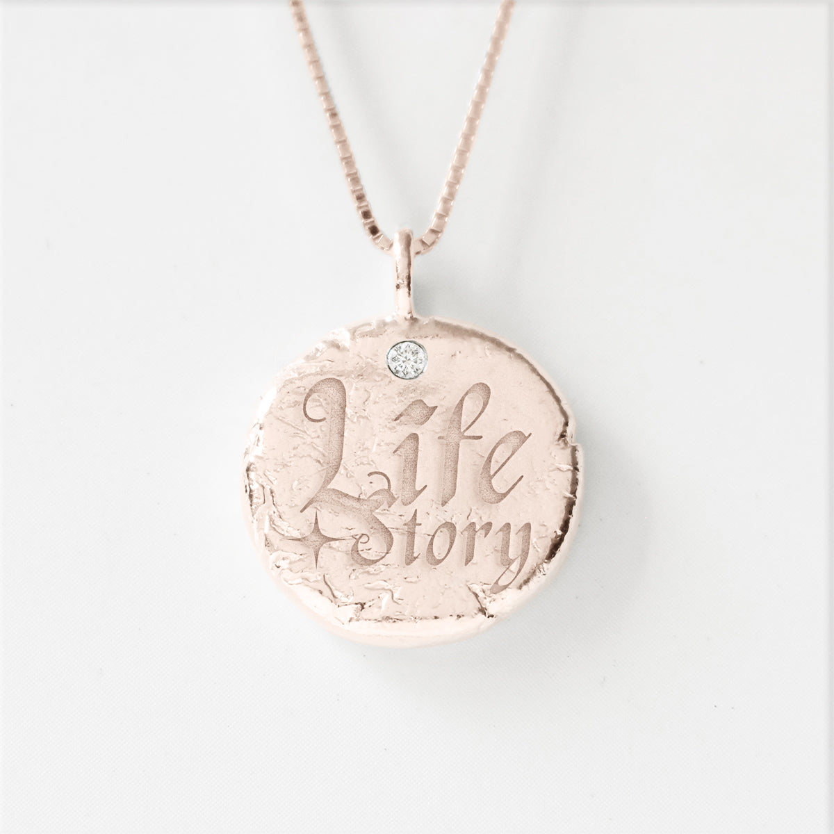 Life Story - 925 Silver Diamond Necklace for Empowerment