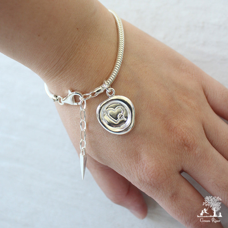Somewhere Someone Is Looking For You too Sterling Silver Wax Seal Bracelet