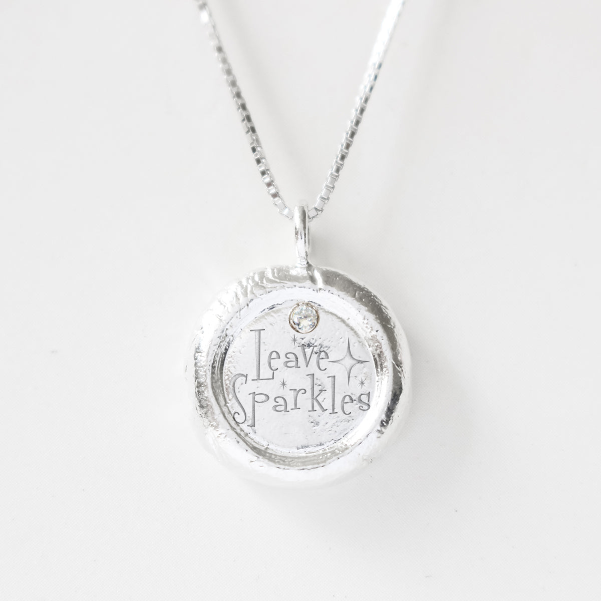 Leave Sparkle - Empowerment Diamond Silver Necklace