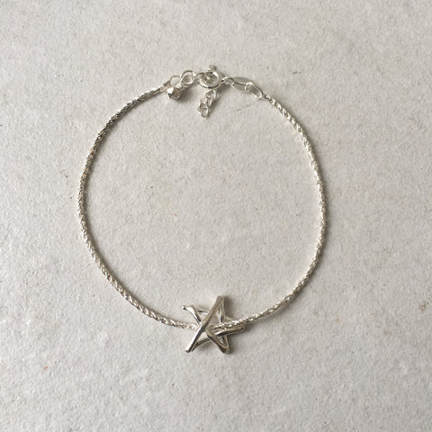 Teeny Tiny Match Star / Stick Star Bracelet in 925 silver