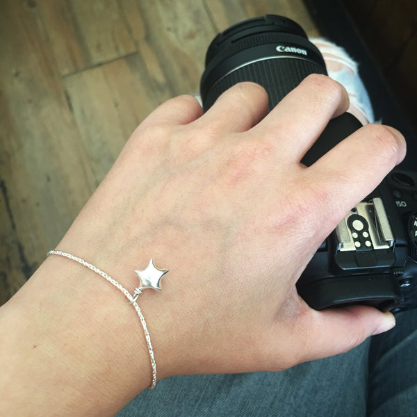 Teeny Tiny Origami Lucky Star Bracelet in 925 silver