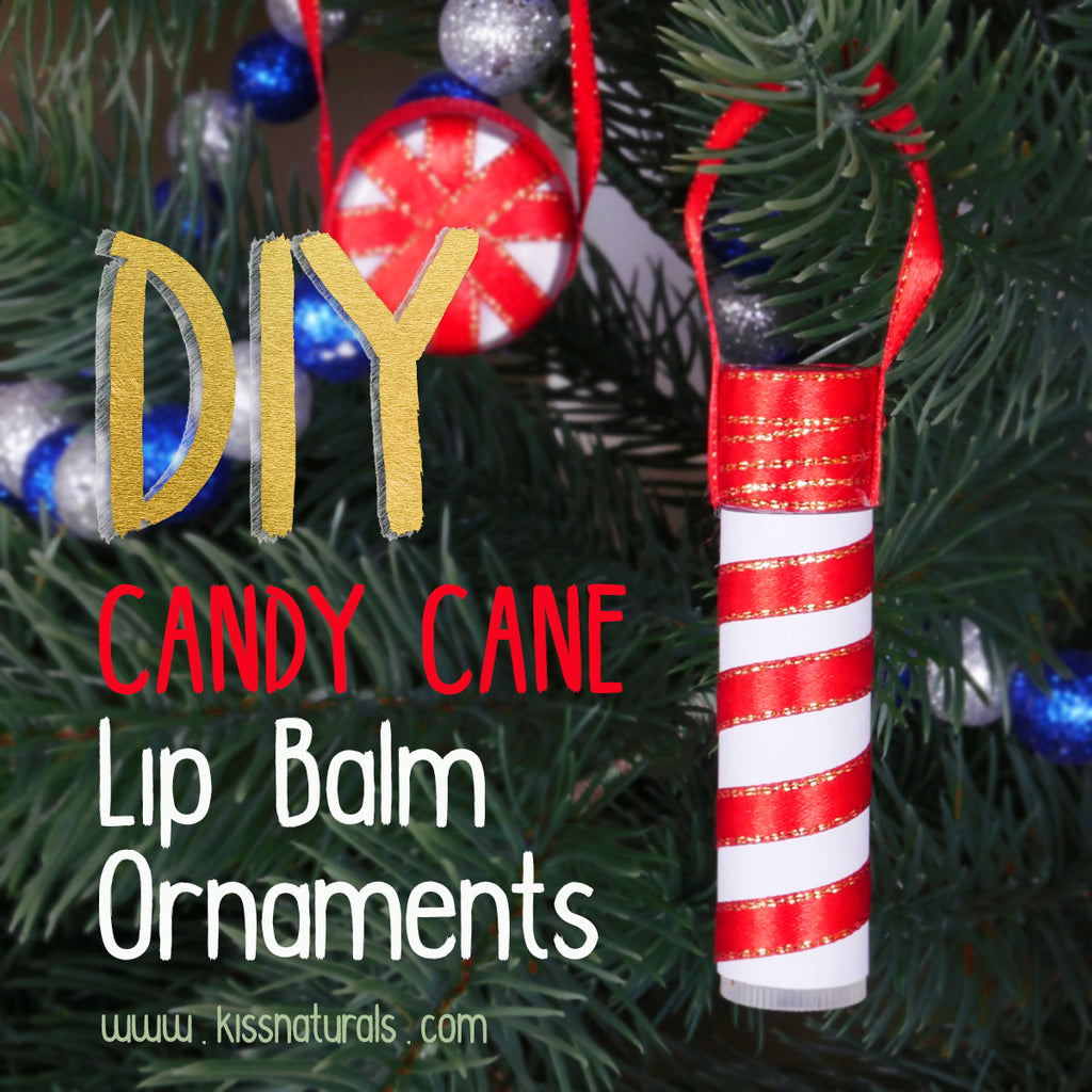 Candy Cane Lip Balm Ornaments - Holiday DIY