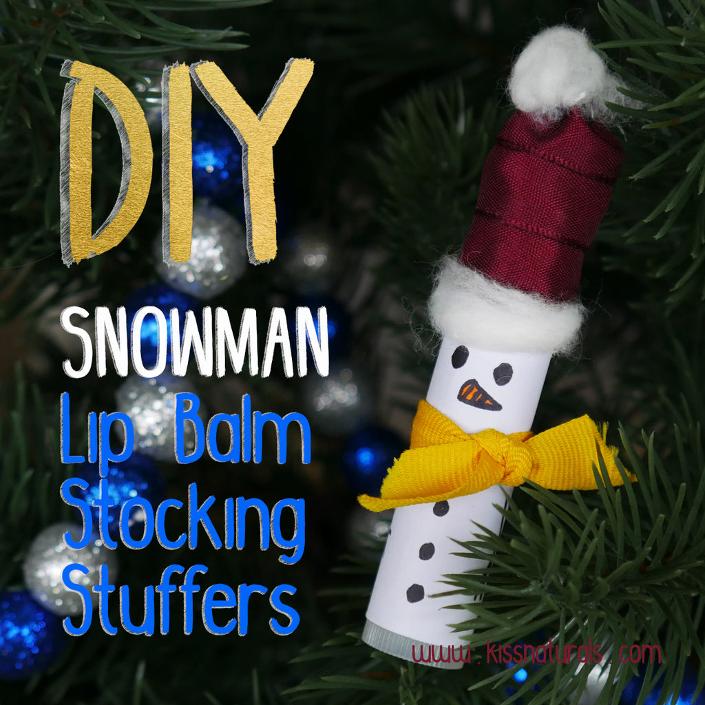 DIY Snowman Lip Balm Stocking Stuffer