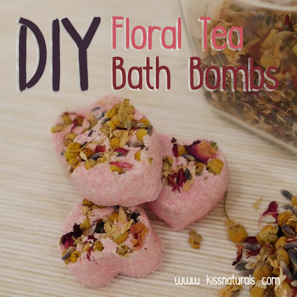 DIY Floral Tea Bath Bombs