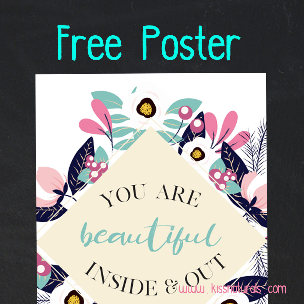 Reminder! You are Beautiful + Free Downloadable Poster