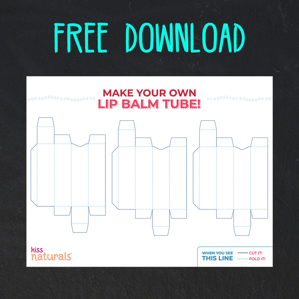 Free Download! Lip Balm Box Template