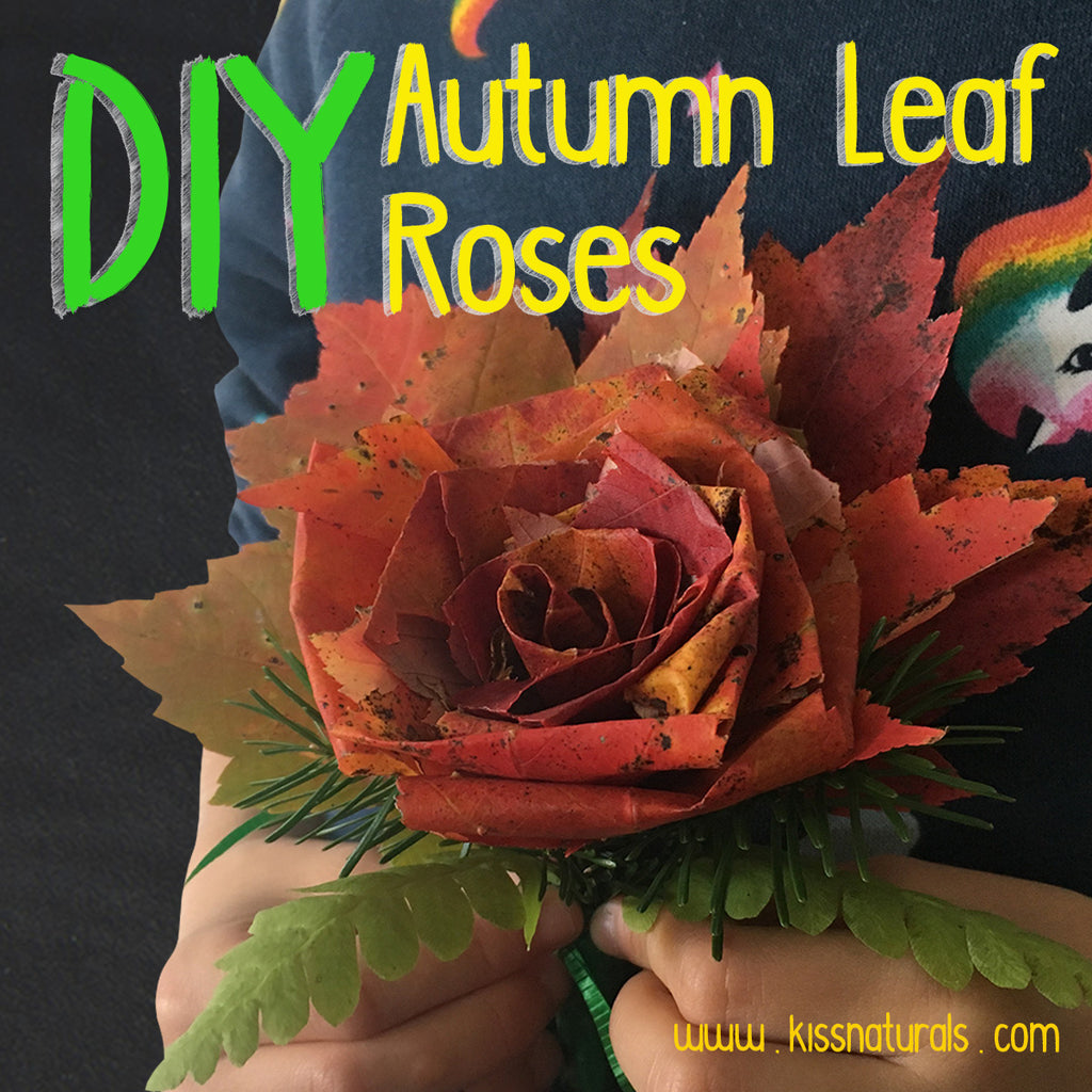 DIY Autumn Leaf Roses
