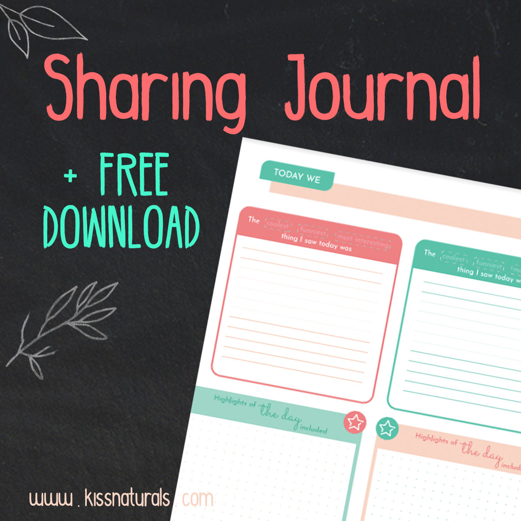 Sharing Journal + Free Printable