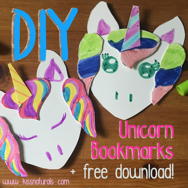 DIY Unicorn Bookmark Upcycle + free download