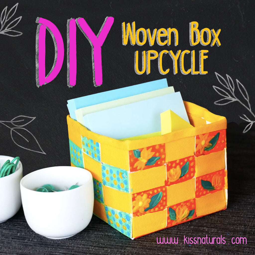 Hand-Painted Woven Box - An Upcycled & Easy DIY!