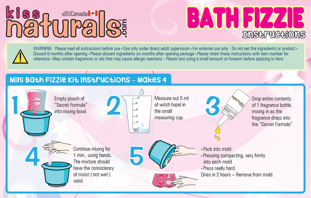 DIY Mini Bath Fizzie Instructions